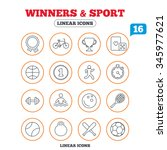 winners and sport icons. winner ... | Shutterstock . vector #345977621