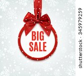 big sale  round banner with red ... | Shutterstock .eps vector #345979259