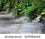 background with twigs | Shutterstock . vector #345985634