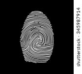 fingerprint vector icon... | Shutterstock .eps vector #345987914