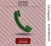 old phone icon vector... | Shutterstock .eps vector #345996161
