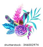 A Beautiful Floral Bouquet With ...