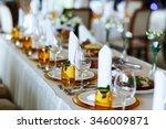 elegant stylish decorated...   Shutterstock . vector #346009871