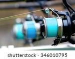 Close Up Of Three Fishing Rods...