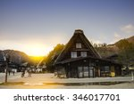 house in historic village... | Shutterstock . vector #346017701