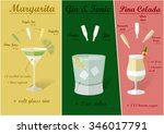 cocktail recipes vector... | Shutterstock .eps vector #346017791