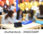 businessmen and women blur in ... | Shutterstock . vector #346023689