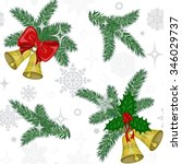 colorful christmas seamless... | Shutterstock .eps vector #346029737