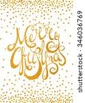 gold textured handwritten... | Shutterstock .eps vector #346036769