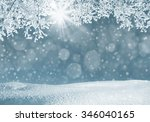 winter landscape with... | Shutterstock . vector #346040165