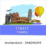 hand drawn vector illustration... | Shutterstock .eps vector #346046345