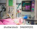 newborn baby in  nicu | Shutterstock . vector #346049201