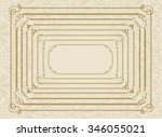 decorative gold frame set... | Shutterstock .eps vector #346055021