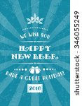 vector happy new beer poster.... | Shutterstock .eps vector #346055249