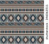 seamless ethnic pattern design | Shutterstock .eps vector #346063511