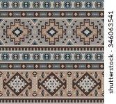seamless ethnic pattern design | Shutterstock .eps vector #346063541
