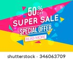 super sale shining banner on... | Shutterstock .eps vector #346063709