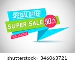 sale banner template. 50  off.... | Shutterstock .eps vector #346063721
