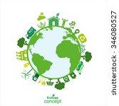 ecology concept vector... | Shutterstock .eps vector #346080527