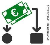 euro cash flow vector icon.... | Shutterstock .eps vector #346082171
