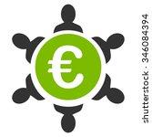 euro collaboration vector icon. ... | Shutterstock .eps vector #346084394