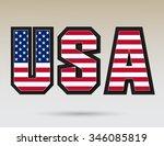 usa vector symbol.usa flag icon. | Shutterstock .eps vector #346085819