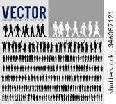 vector business people... | Shutterstock .eps vector #346087121