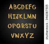 gold font vector illustration | Shutterstock .eps vector #346087505