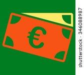 euro banknotes vector icon.... | Shutterstock .eps vector #346088987