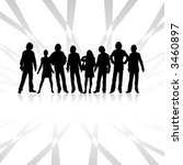team  design of a group with... | Shutterstock .eps vector #3460897