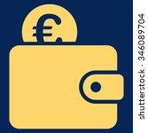 euro wallet vector icon. style... | Shutterstock .eps vector #346089704