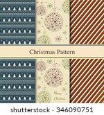 set of seamless christmas... | Shutterstock .eps vector #346090751