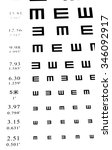 eyesight test chart on white... | Shutterstock . vector #346092917