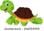 Happy Turtle Walking