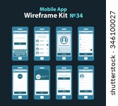 mobile app wireframe ui kit 34. ...