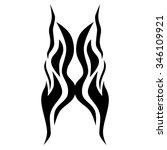 tribal tattoo vector design... | Shutterstock .eps vector #346109921