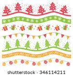 set of christmas decoration... | Shutterstock .eps vector #346114211