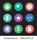 business flat design icons set. ...
