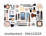 makeup cosmetics and brushes on ... | Shutterstock . vector #346122029