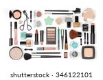 makeup cosmetics and brushes on ... | Shutterstock . vector #346122101