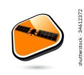 modern satellite sign   Shutterstock .eps vector #34612372