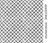 seamless monochrome vector...   Shutterstock .eps vector #346133459