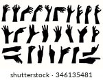 Vector Human Hands  Different...