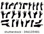 vector human hands  different...   Shutterstock .eps vector #346135481