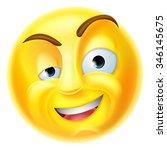 a charming emoji emoticon... | Shutterstock . vector #346145675