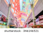 Defocused background of Fremont Street Experience in Las Vegas. Intentionally blurred post production for bokeh effect