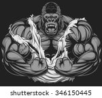 terrible gorilla athlete   Shutterstock .eps vector #346150445