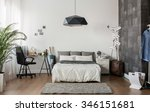 image of new design bedroom... | Shutterstock . vector #346151681