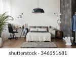 image of new design bedroom... | Shutterstock . vector #346151681