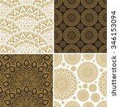 seamless vintage floral...   Shutterstock .eps vector #346153094